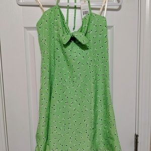 BCBG Green and white floral dress, NWT